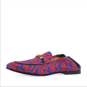 Gucci Brixton sculls loafers.